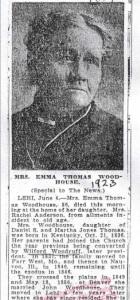 Emma Woodhouse Obituary