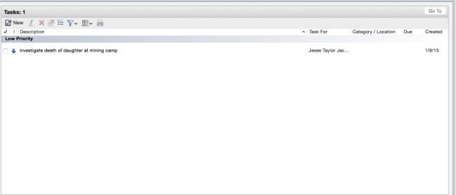task list  in TM3